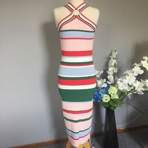 TED BAKER Lyndiaa tutti frutti bodycon Dress NWT 5